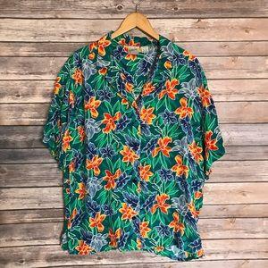 Jacqueline Ferrar Silk floral Hawaiian shirt